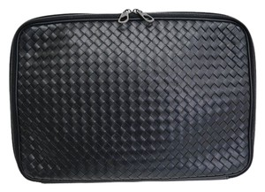 Bottega Veneta Bottega Veneta Intrecciato Black Leather Briefcase LapTop iPad MAC Tech Accessory