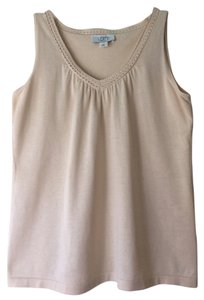 Ann Taylor LOFT Cotton Sleeveless Shirred Shell Tunic