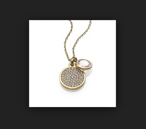 Michael Kors with bonus* Pave Disc Pendant Necklace