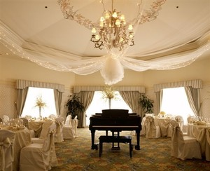 Tulle White with Glitter 600 Feet Of Reception Decoration