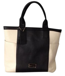 Christian Lacroix Tote in Ivory, Black