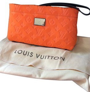 Louis Vuitton Pochette Scuba Wristlet in Orange