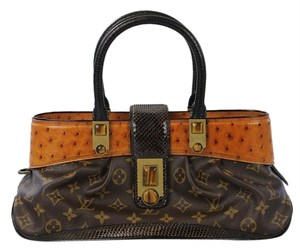 Louis Vuitton Macha Ostrich Lizard Exotic Shoulder Bag