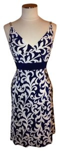 Ann Taylor short dress White/Blue on Tradesy