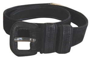 Carmelo Pomodoro Suede belt with rope edging