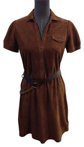Rebecca Minkoff short dress Brown Suede Leather Size 2 on Tradesy