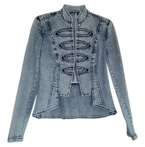 A.B.S. by Allen Schwartz Light Blue (faded denim) Womens Jean Jacket