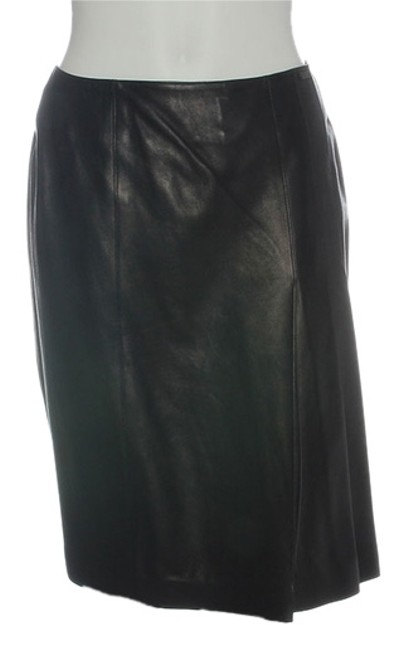 Chanel Leather Leather Ch.eh1219.12 Skirt Black Image 0