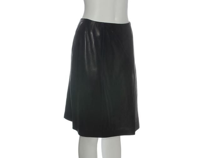 Chanel Leather Leather Ch.eh1219.12 Skirt Black Image 1