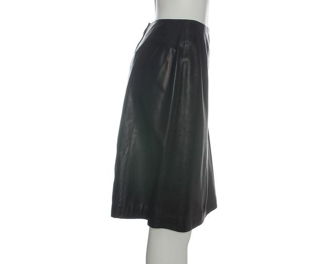 Chanel Leather Leather Ch.eh1219.12 Skirt Black Image 2