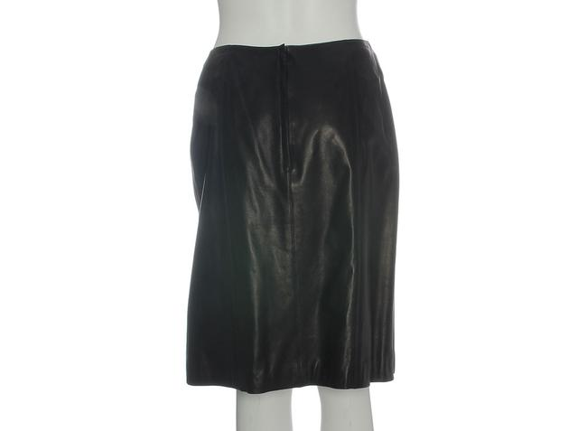 Chanel Leather Leather Ch.eh1219.12 Skirt Black Image 3