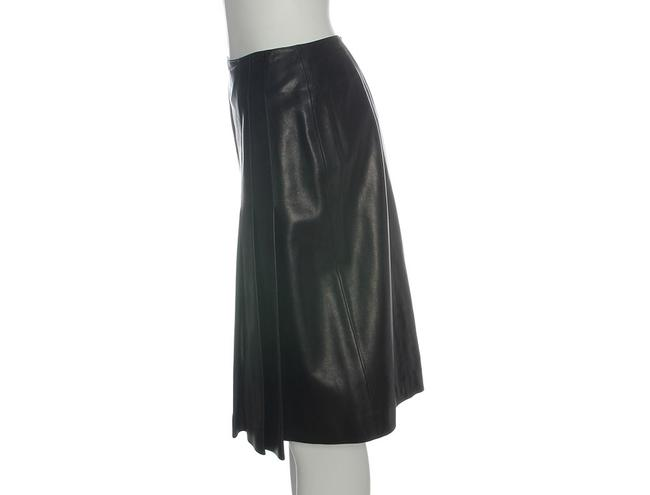 Chanel Leather Leather Ch.eh1219.12 Skirt Black Image 4