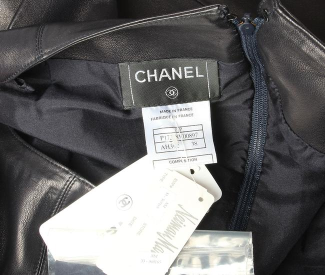 Chanel Leather Leather Ch.eh1219.12 Skirt Black Image 5