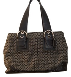 Coach Business Business Zip Top Tote in Black gray