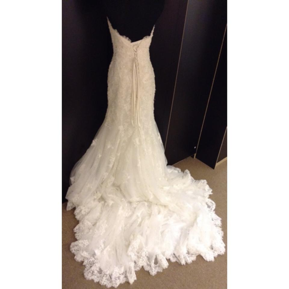 Maggie Sottero Lace Wedding Gown: Maggie Sottero Ivory Lace Tracey Formal Wedding Dress Size