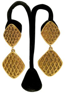Chanel Chanel Quilted Vintage Clip On Earrings