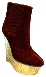 Giambattista Valli Red Gold Boots