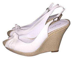 ALDO White leather Wedges
