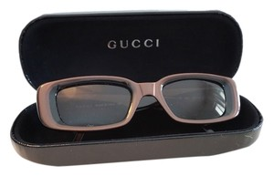 Gucci GUCCI Rectangular Sunglasses Brown Frames & Brown Lenses GG 2409/S 6BJ