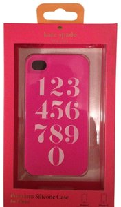 Kate Spade Kate Spade Numbers Pink Silicone case cover for iPhone 4/4S