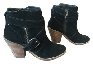 Dolce Vita Suede Chunky Heel Black Boots