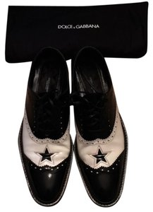Dolce&Gabbana Black and white patent leather Flats