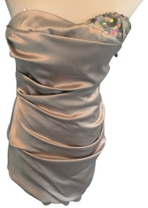 A.B.S. by Allen Schwartz Sequin Formal Satin Dress