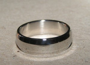 Unisex Wide Stainless Steel Silver Band Ring Free Shipping