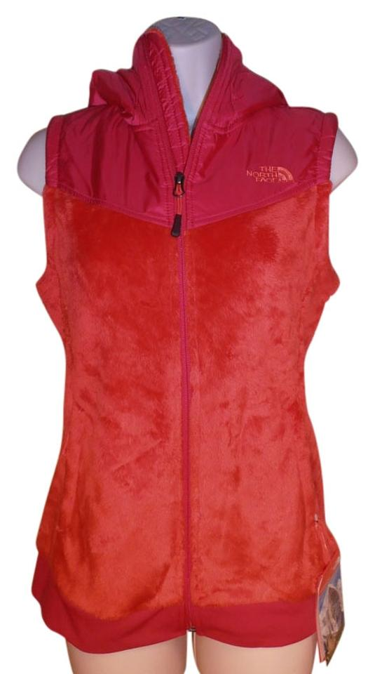 0fd59eba4 The North Face Orange and Bright Pink Oso Hooded Fleece Jacket Pink/Orange  Small New Vest Size 6 (S)
