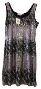 Calvin Klein Embellished Sparkle Metallic Dress