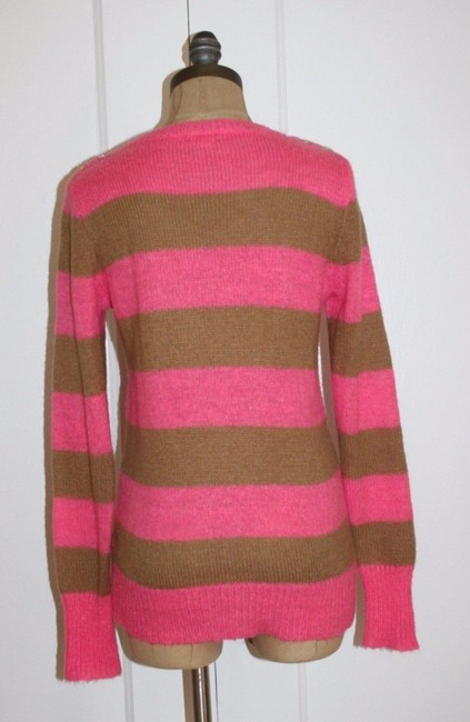 J.Crew Striped Casual V-neck Holiday Sweater Image 3