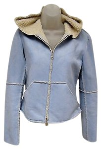 Velvet by Graham & Spencer Womens Faux Suede Blue Jacket