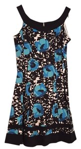 Jones Wear short dress Floral. Black/blue/white on Tradesy