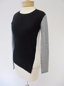Bailey 44 Black Colorblock Wool Sweater