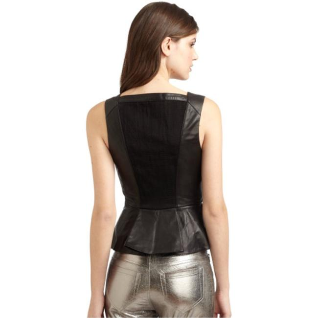 Robert Rodriguez Top Black perforated leather Image 3
