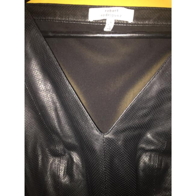 Robert Rodriguez Top Black perforated leather Image 6