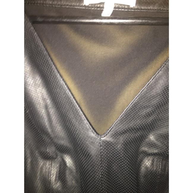 Robert Rodriguez Top Black perforated leather Image 7