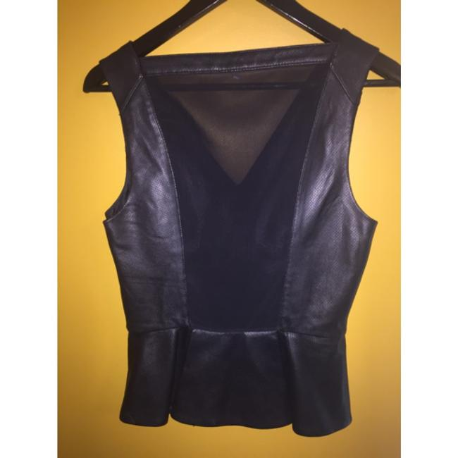 Robert Rodriguez Top Black perforated leather Image 8