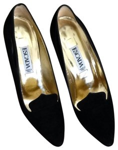 Escada Suede Black Pumps