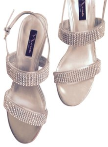Nina SILVER AND RHINESTONE Wedges