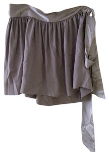BCBGMAXAZRIA Chic Short Neutral Fun Mini Skirt Grey