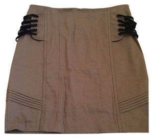bebe Mini Skirt Camel