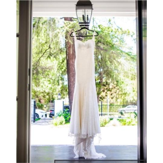 White/Ivory Lace Inspired Open Back Gown Sexy Wedding Dress Size 4 (S) Image 3