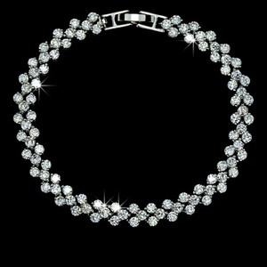Fashion Design Cubic Zirconia Stones Paved Bracelet