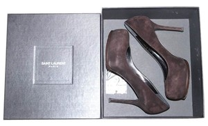 Saint Laurent Ysl Stiletto Brown Pumps