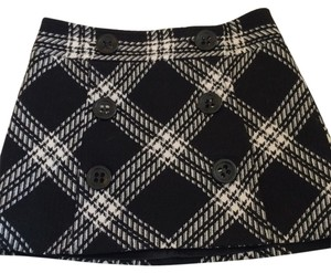 Express Mini Skirt Black and white