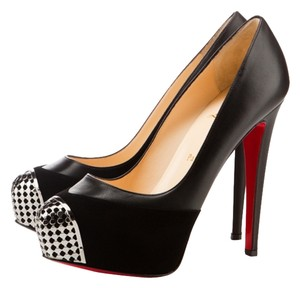 Christian Louboutin Steel-toe Maggie Heels Black Pumps