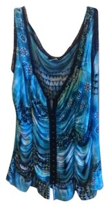 Top blue, free, black, multi