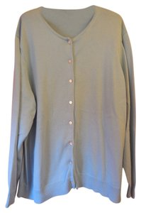Lands' End Plus-size Cotton Extra Button Cardigan