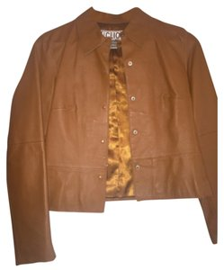 Clio Cognac Leather Jacket